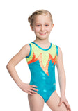 Ervy Sienna Leotard (Caribbean Blue, Orange, Neon Green and Silver)