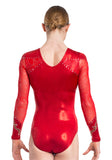 Ervy Mila Long Sleeved Leotard (Red)