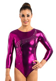 Ervy Ava 3/4 Sleeved Leotard (Aubergine)