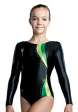 Ervy Alexis Long Sleeved Leotard (Black)