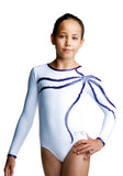 Ervy Nadja Long Sleeved Leotard (White and Violet)