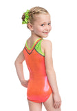Ervy Addison Leotard (Grapefruit, Kiwi and Graphite)