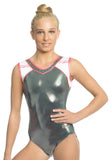 Ervy Addison Leotard (Graphite, White and Lipstick Pink)