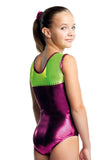 Ervy Elina Leotard (Aubergine and Kiwi)