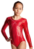 Ervy Ruby Long Sleeved Leotard (Red)