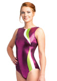 Ervy Giulia Leotard (Black Cherry, Kiwi and White)