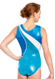 Ervy Alina Leotard (Caribbean Blue, Royal Blue and White)