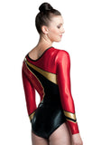 Ervy Special Edition 200 JG Long Sleeved Leotard (Black, Light Red and Gold)