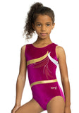 Ervy Jewell Leotard (Blackberry, gold and silver)