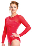 Ervy Amy Long Sleeved Leotard (Red)