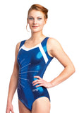 Ervy Angelina Leotard (Marine Blue and White)