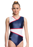 Ervy Kendra Leotard (Ink Blue, White and Red)