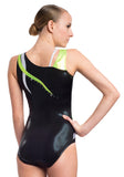 Ervy Flame Leotard (Black and Green)
