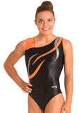 Ervy Flame Leotard (Black and Orange)