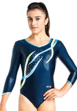 Ervy Flame Long Sleeved Leotard (Ink Blue, Light Blue and Lime Green)