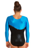 Ervy Cassiopeia Long Sleeved Leotard (Blue and Black)