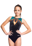 Ervy Pavo Leotard (Black, petrol and copper)