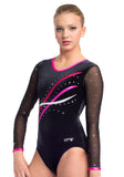 Ervy Nembus Long Sleeved Leotard (Black and Party Pink)