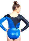 Ervy Serpens Long Sleeved Leotard (Royal Blue and Black)