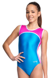 Ervy Polaris Leotard (Azure, Party Pink and Silver)