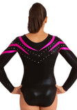 Ervy Alpha Long Sleeved Leotard (Black and Pink)