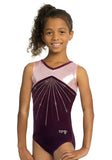 Ervy Sonne Leotard (Aubergine and Bubblegum Pink)
