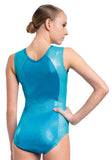 Ervy Kallista Leotard (Caribbean Blue and Silver)