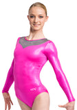 Ervy Nereida Long Sleeved Leotard (Party Pink and Graphite)