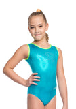 Ervy Fergie Leotard (Caribbean Blue and Neon Green)