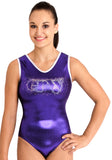Ervy Seda Leotard (Orchid and Silver)