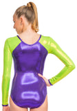 Ervy Milana Long Sleeved Leotard (Violet and Kiwi)