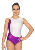 Ervy Bella Leotard (Plum, White and Silver)