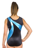 Ervy Shadow Leotard (Caribbean Blue and Black)