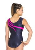Ervy Izara Leotard (Fuschia, Dark Purple and White)