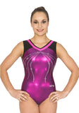 Ervy Janina Leotard (Aubergine, Party Pink and Black)