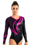 Ervy Runa Long Sleeved Leotard (Black, Party Pink and Aubergine)