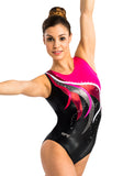 Ervy Hekla Leotard (Black, Fuchsia and Bordeaux)