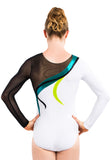 Ervy Hekla Long Sleeved Leotard (White, Petrol, Kiwi and Black)