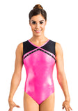 Ervy Sakura Leotard (Neon Pink and Black)