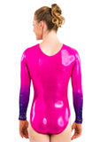 Ervy Marietta Long Sleeved Leotard (Party Pink and Violet)