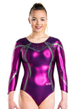Ervy Haleona Long Sleeved Leotard (Aubergine)