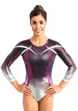 Ervy Haleona 3/4 Sleeved Leotard (Silver, Amethyst, White and Aubergine)