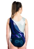 Ervy Celebria Leotard (Ink Blue, Violet and Silver)