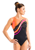 Ervy Alaria Leotard (Black, Grapefruit and Party Pink)