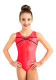 Ervy Mirka Leotard (Neon Salmon and Black)