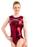 Ervy Mirka Leotard (Bordeaux and White)