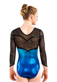 Ervy Arisu 3/4 Sleeved Leotard (Marine Blue and Black)