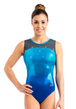 Ervy Ivena Leotard (Caribbean Blue, Marine Blue and Graphite)