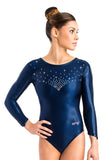 Ervy Ibenia 3/4 Sleeved Leotard (Ink)