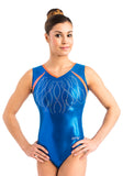 Ervy Cirenia Leotard (Royal Blue and Grapefruit)